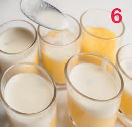 Polenta nel bicchiere con fonduta al gorgonzola