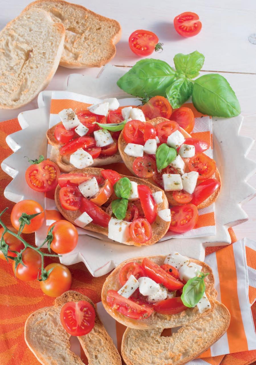 Ricetta delle friselle di farro con pomodori e mozzarella