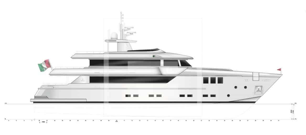 Otam SD35: uno yacht semi-dislocante full custom in alluminio