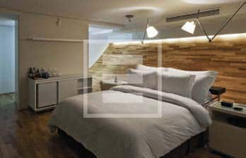Un'altra camera dell'hotel Unique di San Paolo del Brasile