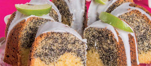 Ciambella al lime e semi di papavero