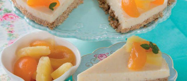 Cheesecake albicocca e ananas