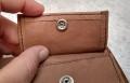 visleer portemonnee klep
