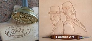 logo tulip leather art