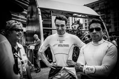 Simon Dolan and Harry Tincknell, drivers of car #38 LMP2 (ELMS) Jota Sport during the scrutineering - 24 Heures Du Mans at Place de la  Republique - Le Mans - France