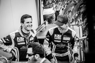 Christian Ried and Klaus Bachler, drivers of car #88 GTE AM (WEC) Proton Competition during the scrutineering - 24 Heures Du Mans at Place de la  Republique - Le Mans - France