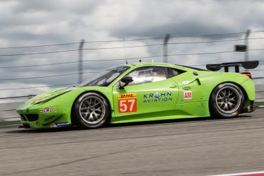 Tracy Krohn (USA) / Niclas Jonsson (USA) / Ben Collins (GBR) drivers of car #57 LMGTE AM KROHN RACING (USA) Ferrari F458 Italia Free Practice #1 of the 6 hours race at the Circuit of the Americas - Austin - Texas - USA