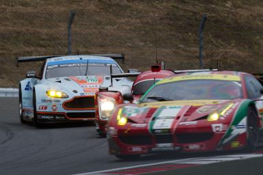 Alex MacDowall (GBR) / Darryl O'Young (CAN) / Fernando Rees (BRA) / drivers of car #99 LMGTE PRO Aston Martin Racing (GBR) Aston Martin Vantage V8 at Fuji Speedway - Shizuoka Prefecture - Japan