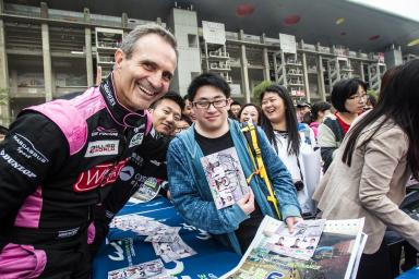Mark Patterson (USA) and caricature Autograph Session - 6 Hours of Shanghai at Shanghai International Circuit - Shanghai - China