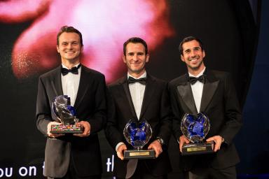 FIA Awards Gala 2014 in Doha3rd placed drivers Marc Lieb, Romain Dumas, Neel Jani (Porsche)