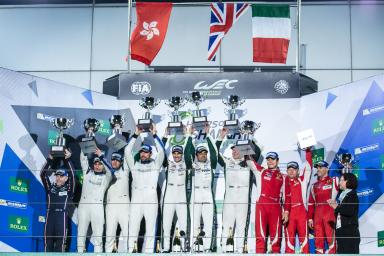 Podium at the  WEC 6 Hours of Shanghai - Shanghai International Circuit - Shanghai - China