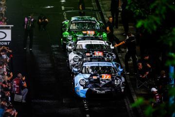 #77 / DEMPSEY-PROTON RACING(DEU) MICHELINPORSCHE 911 RSR, #88 / DEMPSEY-PROTON RACING(DEU) MICHELINPORSCHE 911 RSR#99 / PROTON RACING(DEU) MICHELINPORSCHE 911 RSR 24 Hours of Le Mans - Circuit de la Sarthe - Place de la Republique, Le Mans - France -