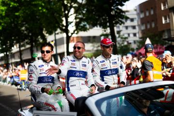 Drivers parade - #66 FORD CHIP GANASSI TEAM UK / USA / Stefan Mucke (DEU) / Olivier Pla (FRA) / Billy Johnson (USA) - 24 hours of Le Mans  - Circuit de la Sarthe - Le Mans - France -