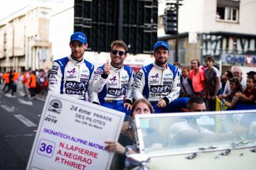 Drivers parade - #36 SIGNATECH ALPINE MATMUT / FRA / Alpine A470 - Gibson / Nicolas Lapierre (FRA) / Pierre Thiriet (FRA) / Andre Negrao (BRA) - 24 hours of Le Mans  - Circuit de la Sarthe - Le Mans - France -