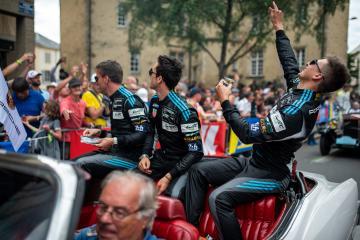 Drivers Parade - #77 DEMPSEY-PROTON RACING / DEU / Christian Ried (DEU) / Matt Campbell (AUS) / Julien Andlauer (FRA) -24 hours of Le Mans  - Circuit de la Sarthe - Le Mans - France -