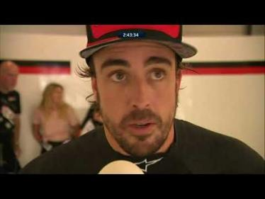 2018 6 Hours of Silverstone - Fernando Alonso reaction after his stint