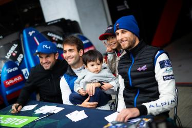 Autograph Session - #36 SIGNATECH ALPINE MATMUT / FRA / Alpine A470 - Gibson / Nicolas Lapierre (FRA) / Pierre Thiriet (FRA) / Andre Negrao (BRA) - 6 hours of Fuji - Fuji Speedway - Oyama - Japan -