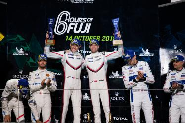 Podium - #92 PORSCHE GT TEAM / DEU / Porsche 911 RSR / Michael Christensen (DNK) / Kevin Estre (FRA) - 6 hours of Fuji - Fuji Speedway - Oyama - Japan -
