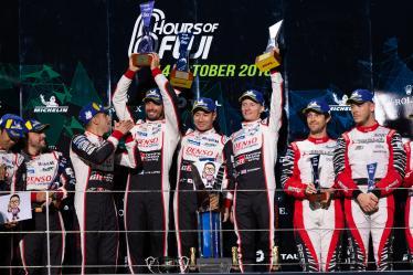 Podium - #7 TOYOTA GAZOO RACING / JPN / Toyota TS050 - Hybrid - Hybrid / Mike Conway (GBR) / Kamui Kobayashi (JPN) / Jose Maria Lopez (ARG) - 6 hours of Fuji - Fuji Speedway - Oyama - Japan -