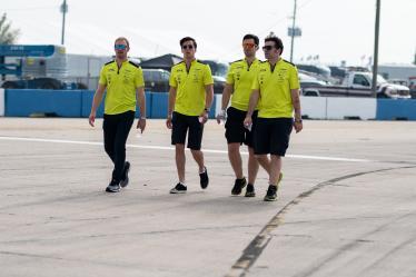 Drivers Track Walk - #97 ASTON MARTIN RACING / GBR  / Alex Lynn (GBR) / Maxime Martin (BEL) -1000 Miles of Sebring - Sebring international Raceway - Sebring - Florida - United States of America -