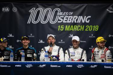 Press Conference - #91 PORSCHE GT TEAM / DEU / Porsche 911 RSR / Richard Lietz (AUT) / Gianmaria Bruni (ITA) - 1000 Miles of Sebring - Sebring international Raceway - Sebring - Florida - United States of America -
