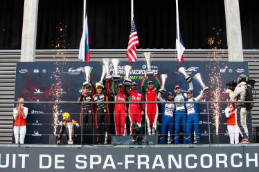 #31 DRAGONSPEED / USA / Oreca 07 - Gibson - Roberto Gonzalez (MEX) / Pastor Maldonado (VEN) / Anthony Davidson (GBR) - #36 SIGNATECH ALPINE MATMUT / FRA / Alpine A470 - Gibson / Nicolas Lapierre (FRA) / Pierre Thiriet (FRA) / Andre Negrao (BRA) - #26 G-DRIVE RACING / RUS / Aurus 01 - Gibson / Roman Rusinov (RUS) / Job Van Uitert (NLD) / Jean-Eric Vergne (FRA) - Total 6h of Spa Francorchamps - Circuit Spa Francorchamps - Stavelot - Belgium -