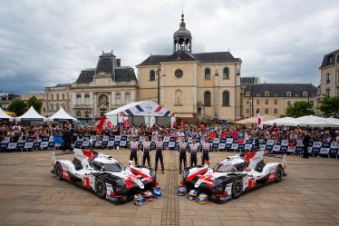 #7 TOYOTA GAZOO RACING / JPN / Toyota TS050 - Hybrid - Hybrid / Mike Conway (GBR) / Kamui Kobayashi (JPN) / Jose Maria Lopez (ARG) - #8 TOYOTA GAZOO RACING / JPN / Toyota TS050 - Hybrid - Hybrid / Sebastien Buemi (CHE) / Fernando Alonso (ESP) / Kazuki Nakajima (JPN) - 24 hours of Le Mans - Circuit de la Sarthe - Le Mans - France -