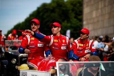 Parade -  #51 AF CORSE / ITA / Ferrari 488 GTE / James Calado (GBR) / Alessandro Pier Guidi (ITA) / Daniel Serra (BRA) -24 hours of Le Mans - Circuit de la Sarthe - Le Mans - France -