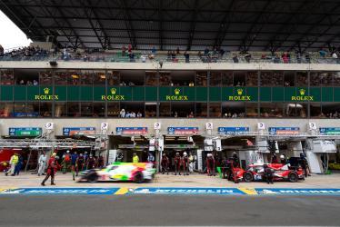 Pitstop - #48 IDEC SPORT / FRA / Oreca 07 - Gibson - #3 REBELLION RACING / CHE / Rebellion R-13 -Gibson -24 hours of Le Mans - Circuit de la Sarthe - Le Mans - France -