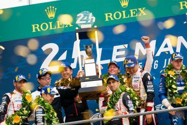 #8 TOYOTA GAZOO RACING / JPN / Toyota TS050 - Hybrid - Hybrid / Sebastien Buemi (CHE) / Fernando Alonso (ESP) / Kazuki Nakajima (JPN) - #7 TOYOTA GAZOO RACING / JPN / Toyota TS050 - Hybrid - Hybrid / Mike Conway (GBR) / Kamui Kobayashi (JPN) / Jose Maria Lopez (ARG) - 24 hours of Le Mans - Circuit de la Sarthe - Le Mans - France -