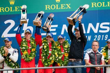 #51 AF CORSE / ITA / Ferrari 488 GTE / James Calado (GBR) / Alessandro Pier Guidi (ITA) / Daniel Serra (BRA) - 24 hours of Le Mans - Circuit de la Sarthe - Le Mans - France -