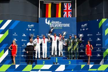 #91 PORSCHE GT TEAM / DEU / Porsche 911 RSR / Richard Lietz (AUT) / Gianmaria Bruni (ITA) - #92 PORSCHE GT TEAM / DEU / Porsche 911 RSR / Michael Christensen (DNK) / Kevin Estre (FRA) -#97 ASTON MARTIN RACING / GBR / Aston Martin Vantage / Alex Lynn (GBR) / Maxime Martin (BEL)  4 hours of Silverstone - Silverstone  - Towcester - Great Britain  -