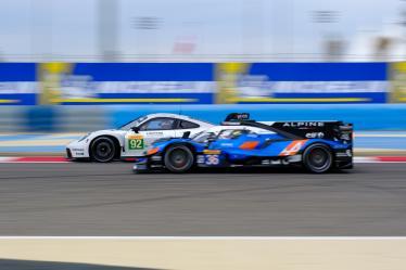 #92 PORSCHE GT TEAM / DEU / Porsche 911 RSR - #36 SIGNATECH ALPINE MATMUT / FRA / Alpine A470 - Gibson -- Bapco 8 hours of Bahrain - Bahrain International Circuit - Sakhir - Bahrain