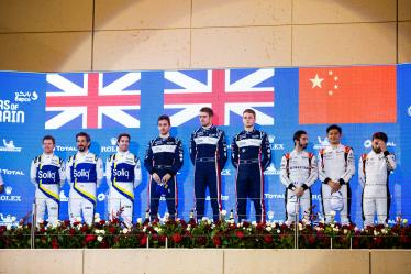 #22 UNITED AUTOSPORTS / USA / Ligier JSP217 - Gibson / Philip Hanson (GBR) / Filipe Albuquerque (PRT) / Oliver Jarvis (GBR) - #38 JOTA / GRB / Oreca 07 - Gibson / Roberto Gonzalez (MEX) / Antonio Felix da Costa (PRT) / Anthony Davidson (GRB) - #37 JACKIE CHAN DC RACING / CHN /  Oreca 07 - Gibson / Ho-Pin Tung (NLD) / Gabriel Aubry (FRA) / Will Stevens (GRB) - - Bapco 8 hours of Bahrain - Bahrain International Circuit - Sakhir - Bahrain