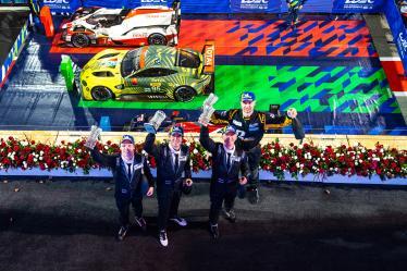 #57 TEAM PROJECT 1 / DEU / Porsche 911 RSR - Ben Keating (USA) / Larry Ten Voorde NLD) / Jeroen Bleekemolen (NLD) - - Bapco 8 hours of Bahrain - Bahrain International Circuit - Sakhir - Bahrain
