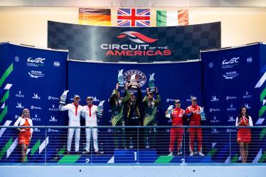 #92 PORSCHE GT TEAM / DEU / Porsche 911 RSR / Michael Christensen (DNK) / Kevin Estre (FRA) - ASTON MARTIN RACING / GBR / Aston Martin Vantage / Marco Sorensen (DNK) / Nicki Thiim (DNK) - #51 AF CORSE / ITA / Ferrari 488 GTE / James Calado (GBR) / Alessandro Pier Guidi (ITA) -- Lone Star Le Mans - Circuit of the Americas - Austin - USA
