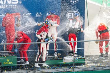 LM GTE AM Podium - Champagne - #83 AF CORSE / ITA / Fran?ois Perrodo (FRA) / Emmanuel Collard (FRA) / Nicklas Nielsen (DNK) - 24h of Le Mans - Circuit de la Sarthe - Le Mans - France -