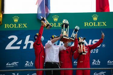 Podium - #90 TF SPORT / GBR / Aston Martin Vantage AMR -  24h of Le Mans - Circuit de la Sarthe - Le Mans - France -