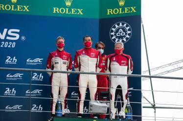 Podium - #83 AF CORSE / ITA / Ferrari 488 GTE EVO - 24h of Le Mans - Circuit de la Sarthe - Le Mans - France -