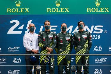 Podium - #97 ASTON MARTIN RACING / GBR / Aston Martin Vantage / Harry Tincknell (GBR) / Alex Lynn (GBR) / Maxime Martin (BEL) - 24h of Le Mans - Circuit de la Sarthe - Le Mans - France -
