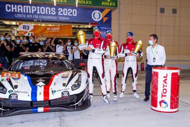 LMGTE AM FIA ENDURANCE TROPHY - #83 AF CORSE / ITA / Ferrari 488 GTE EVO - #83 AF CORSE / ITA / Ferrari 488 GTE EVO - Fran?ois Perrodo (FRA) / Emmanuel Collard (FRA) / Nicklas Nielsen (DNK) -- 8 hours of Bahrain - Bahrain International Circuit - Sakhir - Bahrain