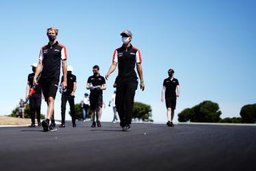 #8 TOYOTA GAZOO RACING / JPN / Toyota GR010 - Hybrid - Hybrid / Sebastien Buemi (CHE) / Brendon Hartley (NZL) / Kazuki Nakajima (JPN) -Drivers Track Walk - 8 hours of Portimao - Autodromo Internacional do Algarve - Portimao - Portugal -