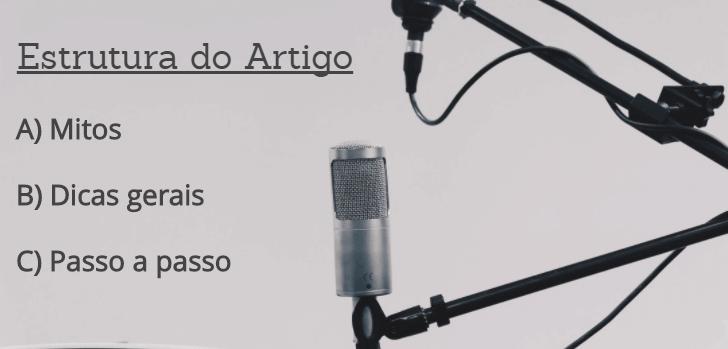 Como fazer um podcast online