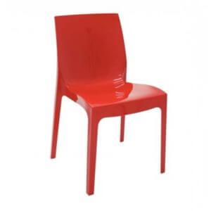 Cadeira Alice Brilhosa - Tramontina - Vermelha