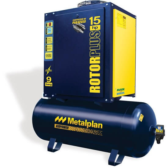 Compressor Parafuso Rotor Plus 25HP - Metalplan