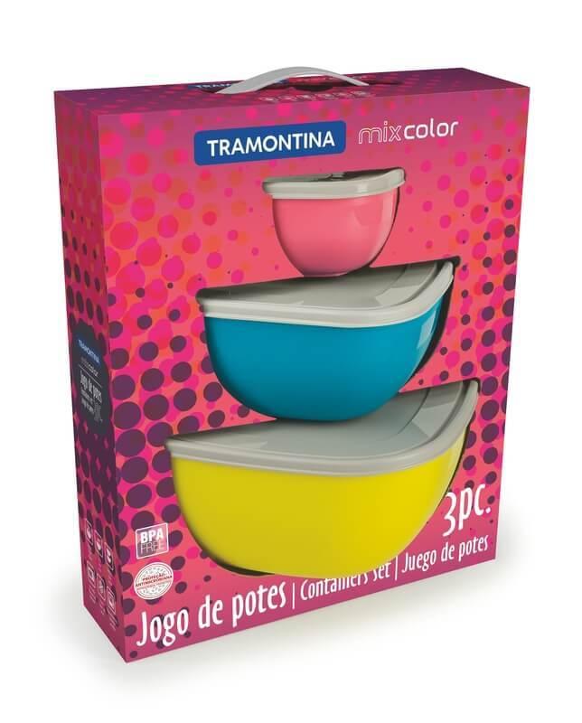 Jogo de Potes Bowls Mix Color - Tramontina