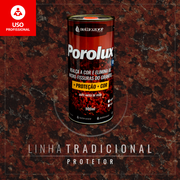Porolux +Proteção +Cor 900ML - Bellinzoni - Preto