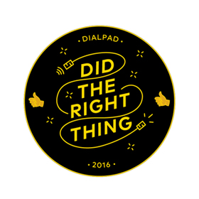 Dialpad Did the Right Thing Sticker