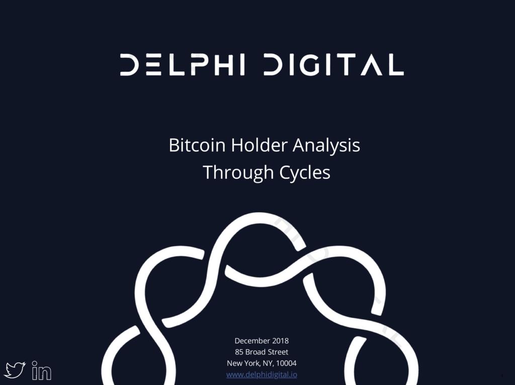 Bitcoin Holder Analysis Through Cycles – December 2018