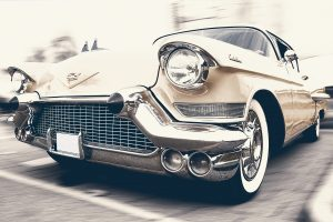 Car insurance in Eau Claire for an old Cadillac or a new KIA, this is a picture of a 50s style Cadillac